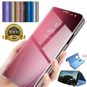 cheaper 7d484 bedd7 Details about Huawei P Smart & P20 Pro Smart View Mirror Leather Flip Stand  Case Cover