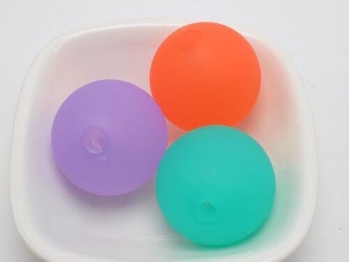 5 Mixte Couleur Givré Acrylique ronde lisse Perles énorme en caoutchouc 30 mm Tone