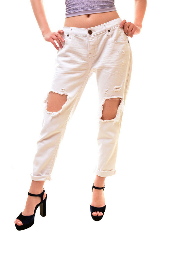 One Teaspoon Women's Awesome Baggies Jeans White Size 25 RRP  158 BCF85