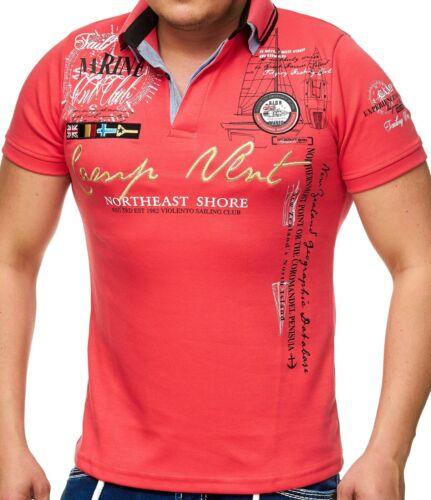 Herren Polo-Shirt mit V-Ausschnitt und KnopfleisteKurzarmCamp Vlnt 006