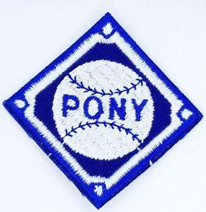 Details about Pony Baseball / Softball Patch or Emblem - Vintage