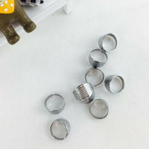 1PC Sliver Sewing Thimble Adjustable Finger Ring Stitch Alloy Hand Craft Tools