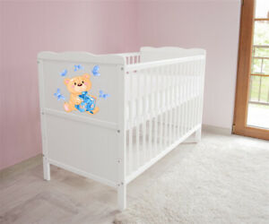 Babybett-Kinderbett-Juniorbett-umbaubar-3x1-Matratze-120x60-Weiss-nr-24