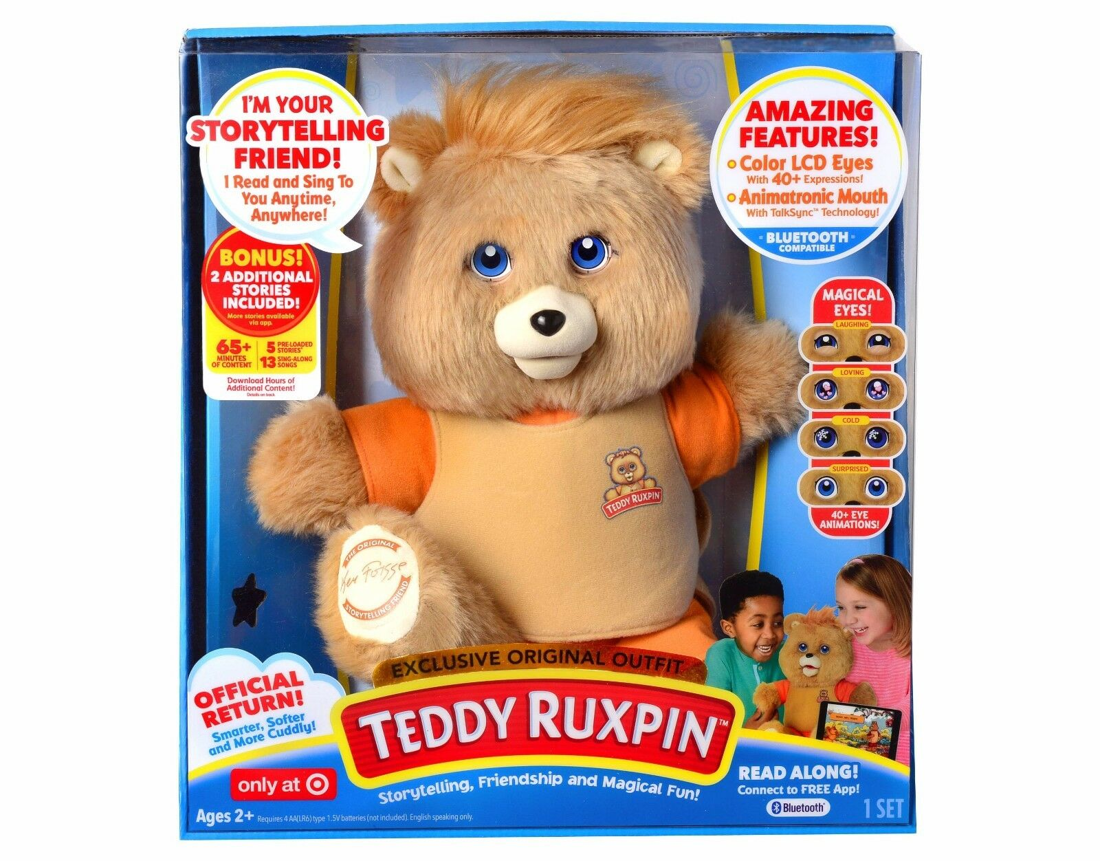 Teddy Ruxpin Bear 2017 Storytelling Original Outfit Target Exclusive Nuovo in Hand