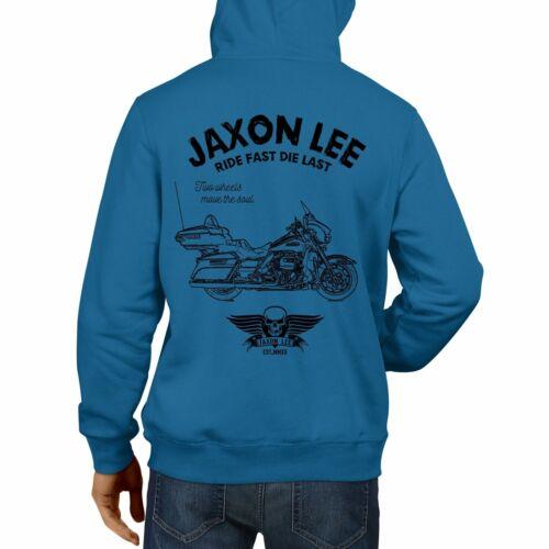 JL Ride Harley Davidson Electra Glide Ultra Classic Motorbike Art Hoodie