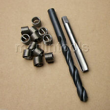 Helicoil Thread Repair M10 x 1.25 Drill and Tap 12 Inserts Fine thread