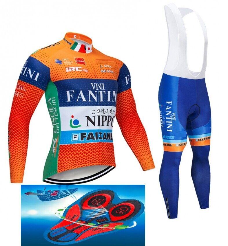 VINI FANTINI NIPPO 2019 CYCLING WINTER THERMAL SET 9D GEL PAD NEW