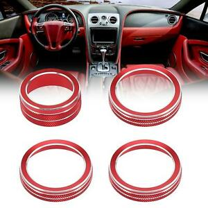 4pcs Air Conditioner and Headlight Switch Knob Cover Ring for Jeep Gladiators
