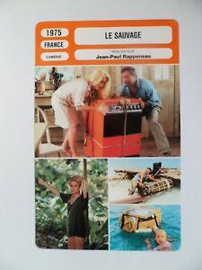 CARTE FICHE CINEMA 1975 LE SAUVAGE Catherine Deneuve Yves Montand Luigi Vannucch