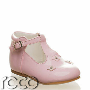 Girls baby pink shoes baby shoes flower girl shoes communion image is loading girls baby pink shoes baby shoes flower girl mightylinksfo
