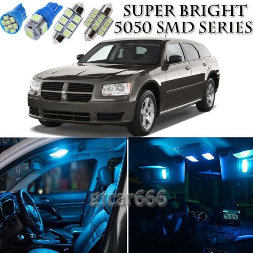 8pcs Ice Blue LED Interior Lights Bulb Package Kit For Dodge MAGNUM 2005-2008
