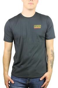 Brixton-Mens-Gauge-Premium-Fit-Short-Sleeve-T-Shirt-Washed-Black-M-New