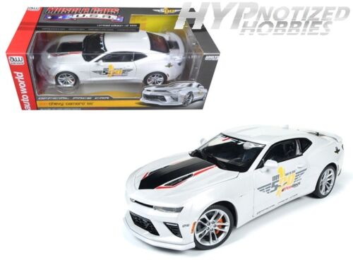 AUTO WORLD 1:18 2017 CHEVROLET CAMARO SS INDY 500 PACE CAR DIE-CAST WHITE AW236