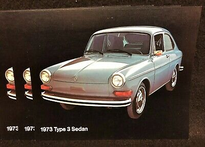 1973 Vw Type 3 Fastback Sedan Sales Brochure Accessories Catalog
