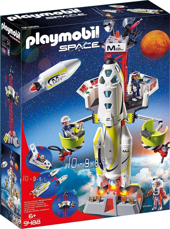 PLAYMOBIL 9488 - Space - Mars-Rakete mit Startrampe
