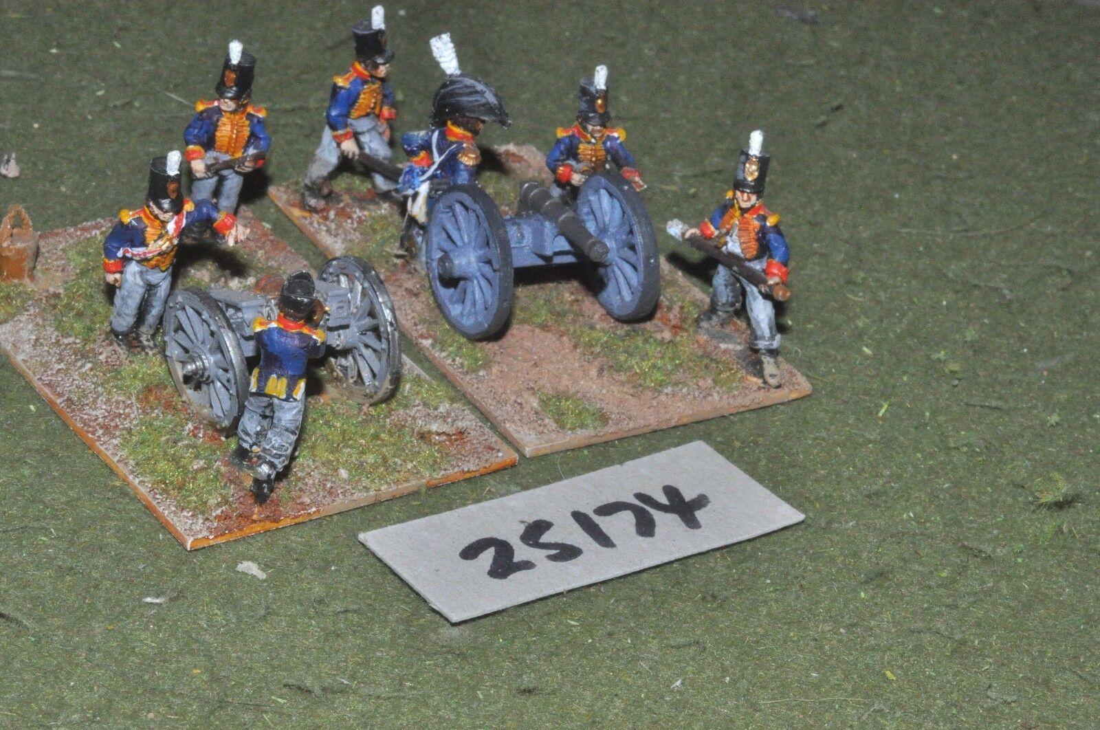 25mm napoleónicas británico pies 2 armas & tripulaciones-Art (25174)