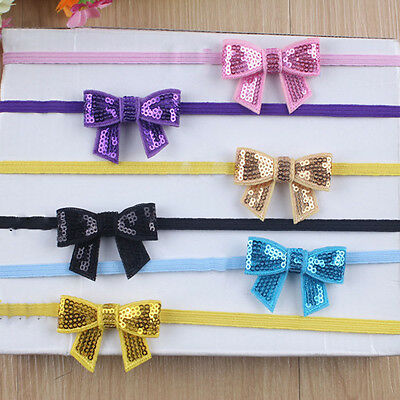 Lovely Kids Girl Toddler Sequin Headband Hair Bow Band Headwear Baby Accessories