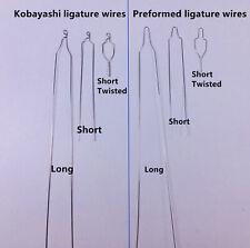 Dental Short Twisted Preformed Ligature Wires Orthodontic Kobayashi Long Bracket