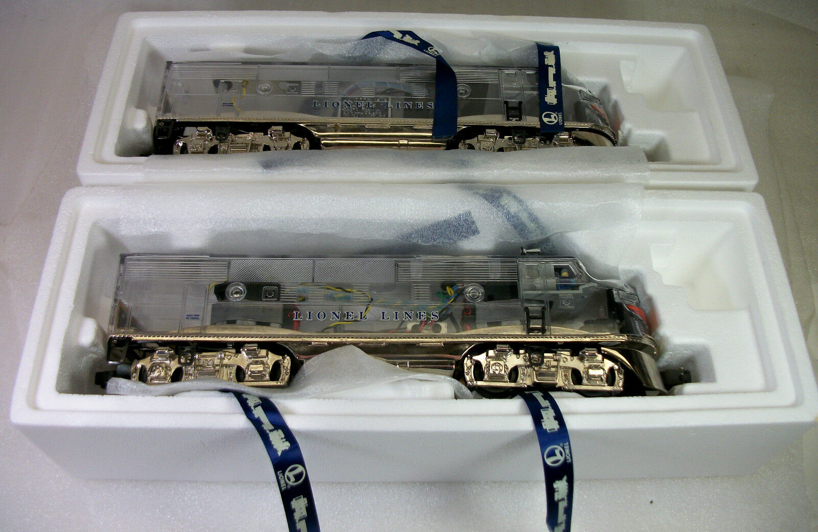LIONEL 38150 + 29086 PLATIMUM GHOST CLEAR SHELL SHELL SHELL F-3s & MADISON CARS C-8++ OBs f0bf9e