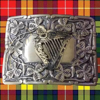 Men's Celtic Kilt Belt Buckle Irish harp Antique//Chrome//Gold Finish//Belt Buckles