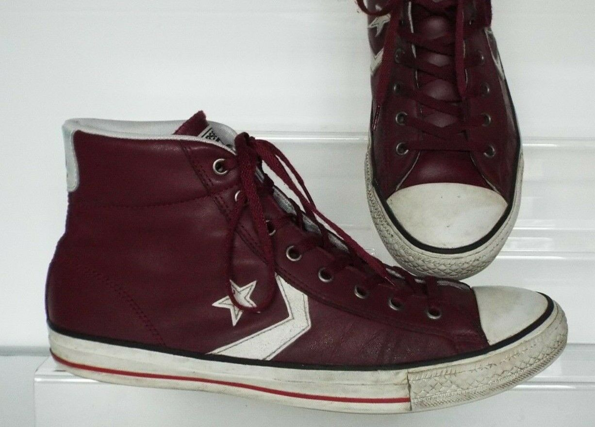 online store 82604 9a761 Converse 10 44 hi trainers Leather wine red burgundy lace up top  onljfa6076-Men s Trainers