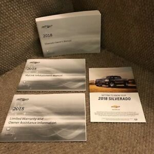 Details About 2018 Chevrolet Silverado 1500 2500 3500 Owners Manual W Mylink System Bk More
