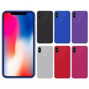 Funda-gel-lisa-Apple-IPHONE-X-5-8-034-protector-cristal-opcional
