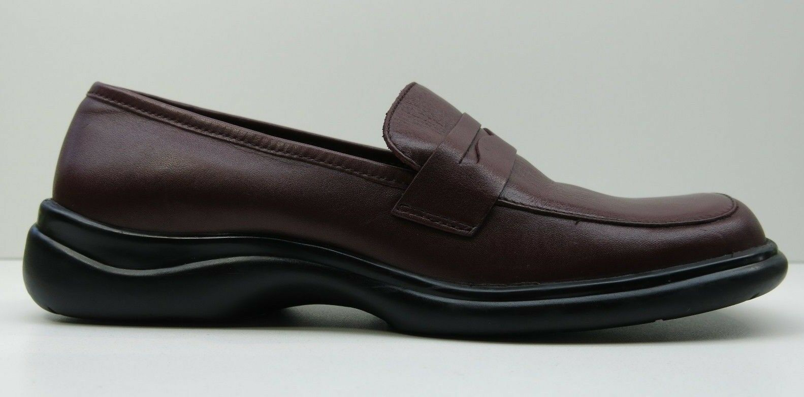 Franco Loafers Sarto Burgundy Red Leather Wedge Heels Penny Loafers Franco Pumps Shoes 5.5 $79 4fbce9