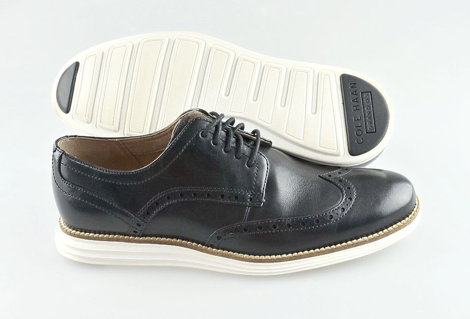 buona qualità Uomo ColeHaan 'Grand O.S.' nero Leather Leather Leather Wing tip Oxfords Dimensione US 8 - D  marca