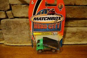 NIB-2003-Matchbox-Hero-City-60-Auto-Shuttle-Green-Flat-bed-B5372-0814
