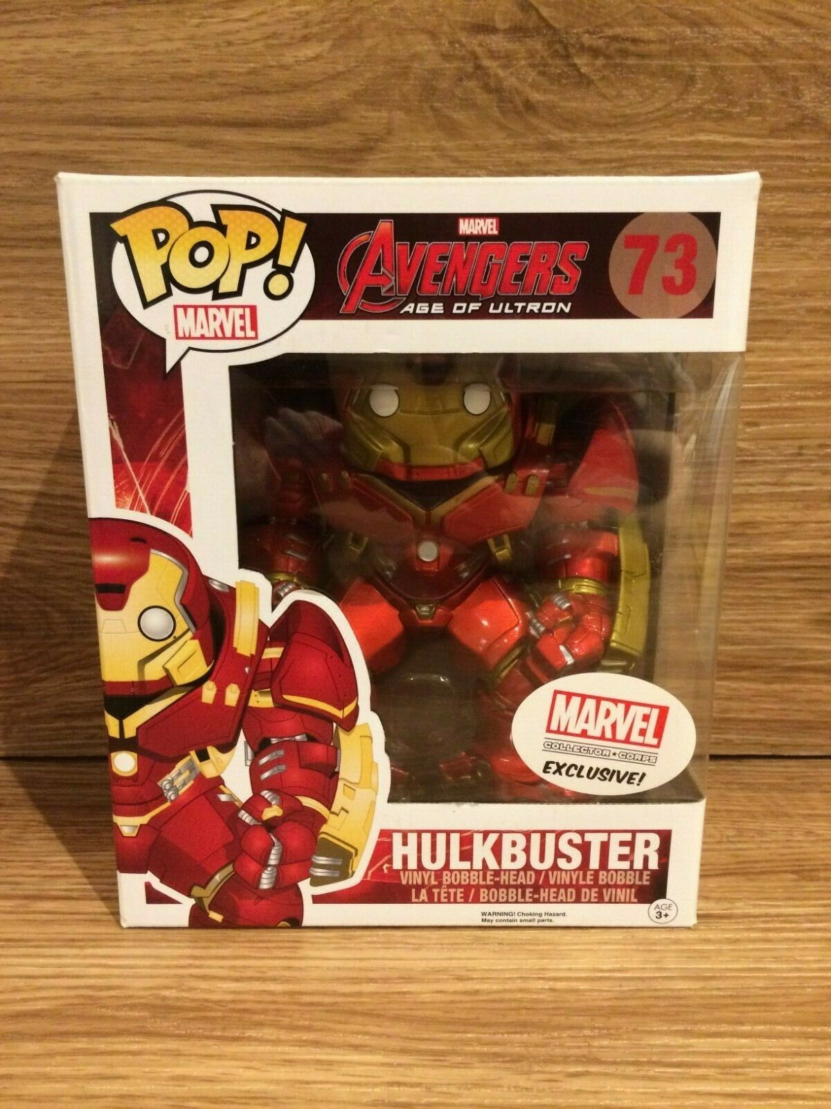 Funko Pop Marvel 73 Hulkbuster Collector Corps Exclusive Brand New