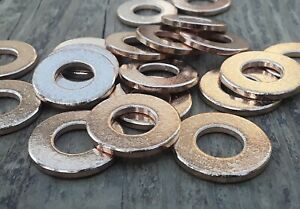 40pc-Metal-Stamping-Blanks-2-word-Bronze-Washer-Made-In-USA