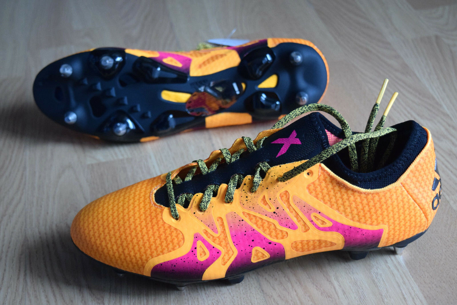 Adidas X 15 + Primeknit SG 41 48 soft Ground Premium Zapatos de fútbol aq4766