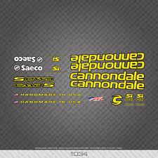 01034 Cannondale Bicicletta Adesivi-Decalcomanie-Transfers