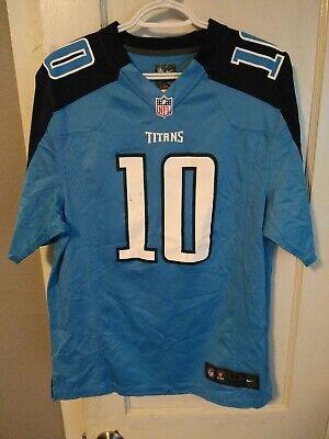 Jake Locker 10 Tennessee Titans NFL Blue Nike On Field Jersey Men's Size Medium | eBay
