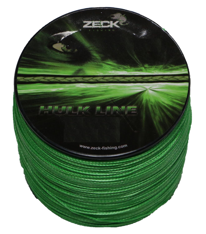 (  1m) Zeck Hulk Line 0,55mm 50kg 300m geflochtene Schnur Wels Wallerschnur