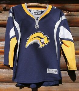 purchase cheap 2823e 485fd Details about Buffalo Sabres NHL Hockey Reebok Jersey Youth L / XL Sewn  Very Nice +