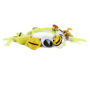 Venessa Arizaga Neon Yellow Gold Chain Charm Friendship Bracelet