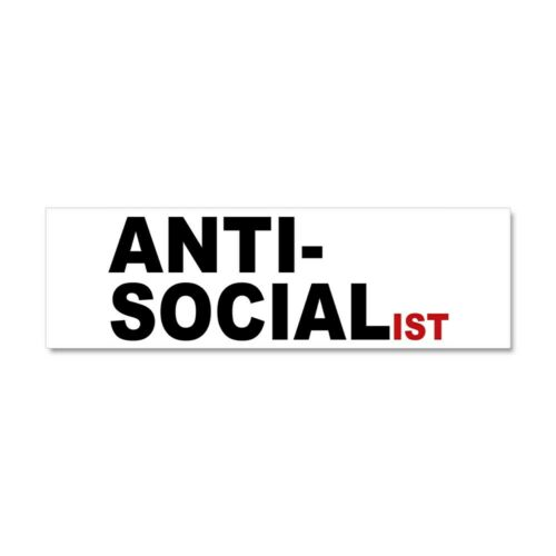 613258510 Magnetic Bumper Sticker CafePress Anti Socialist Car Magnet 10 x 3
