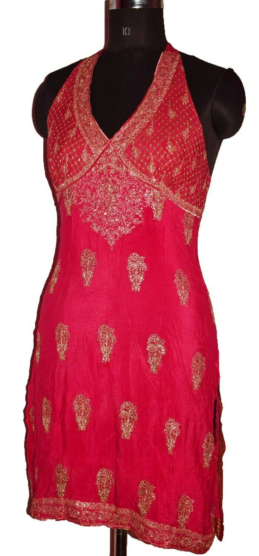 INDIAN DESIGNER RITU KUMAR SEXY BACL LESS DRESS V… - image 5