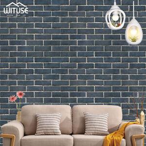 Simulation 3D Brick Stone Wall Sticker Self-adhesive Film Wallpaper 45x100cm C4