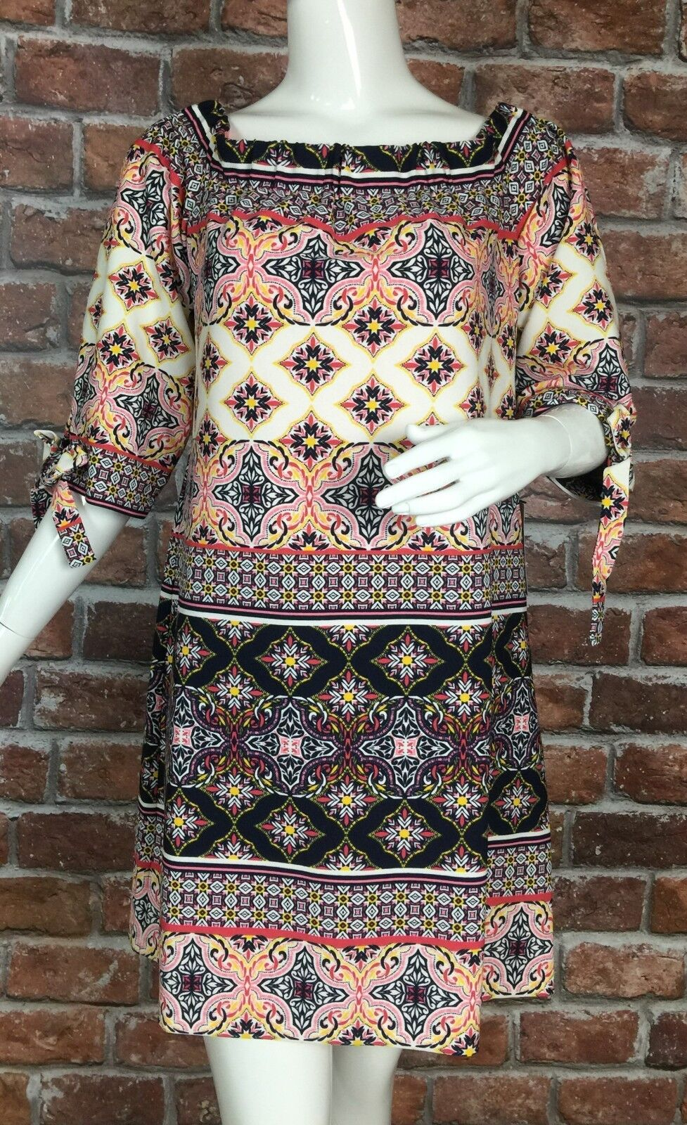 Vince Camuto Off The Shoulder Shift Dress Womens Size 14 Lined 3 4 Sleeve (U35)