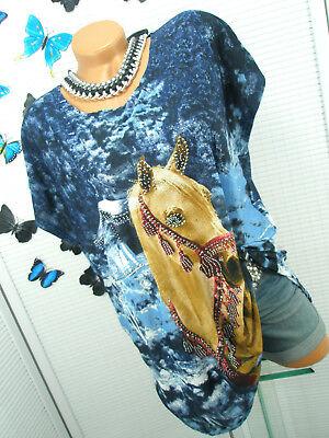 damen blaue bluse mit glitzer bis 20 euro