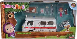 Simba 109309863 Bear Masha Play Set Ambulance Nylon//A