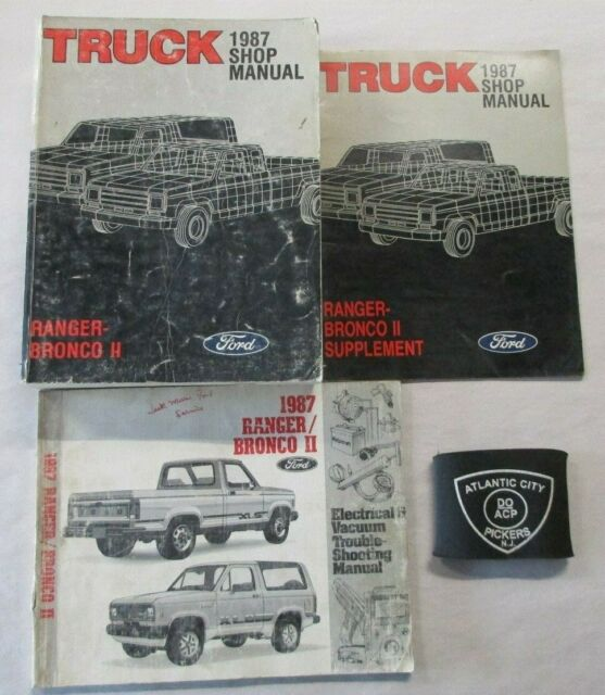 1987 Ford Ranger    Bronco Ii Truck Service Shop Repair Manual  U0026 Wiring Diagrams