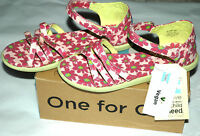 Toms Youth Girls Sandals Pink Daisy Floral Canvas Youth Size 6