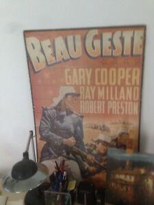 Beau Geste, precioso cartel de la famosa pelicula de Gary Cooper, sobre táblex - España - Beau Geste, precioso cartel de la famosa pelicula de Gary Cooper, sobre táblex - España