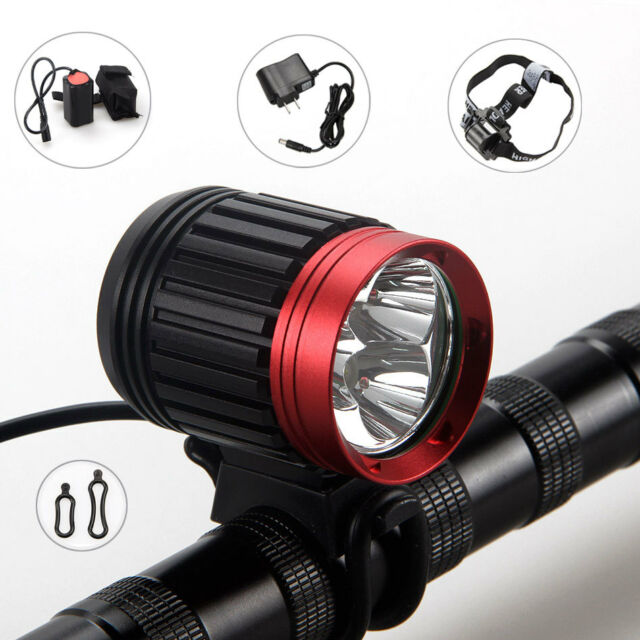 Rechargeable 6000Lm 3X CREE XM-L U2 LED Head Front Bike Bicycle light HeadLight