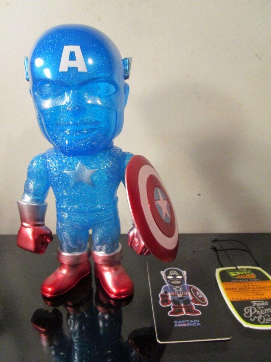 Hikari Japanese Vinyl  Limited Edition True bluee Captain America Sofubi Figure
