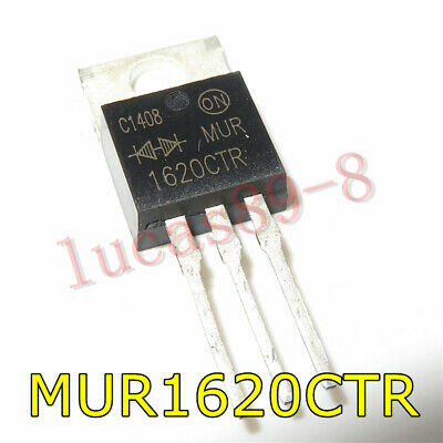 5 pcs ON MUR1620CT TO-220 ULTRAFAST RECTIFIERS 8 AMPERES